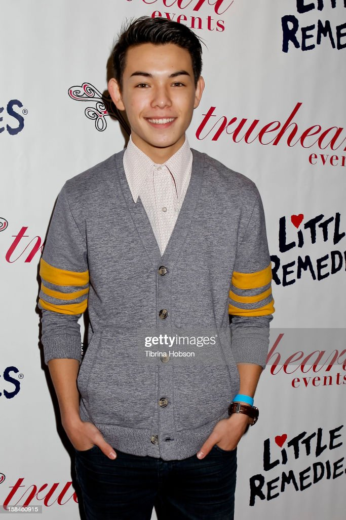 <a gi-track='captionPersonalityLinkClicked' href=/galleries/search?phrase=Ryan+Potter&family=editorial&specificpeople=7496506 ng-click='$event.stopPropagation()'>Ryan Potter</a> attends Truehearts winter wonderland charity gala, benefiting Children's Hospital Los Angeles at Avalon on December 16, 2012 in Hollywood, California.