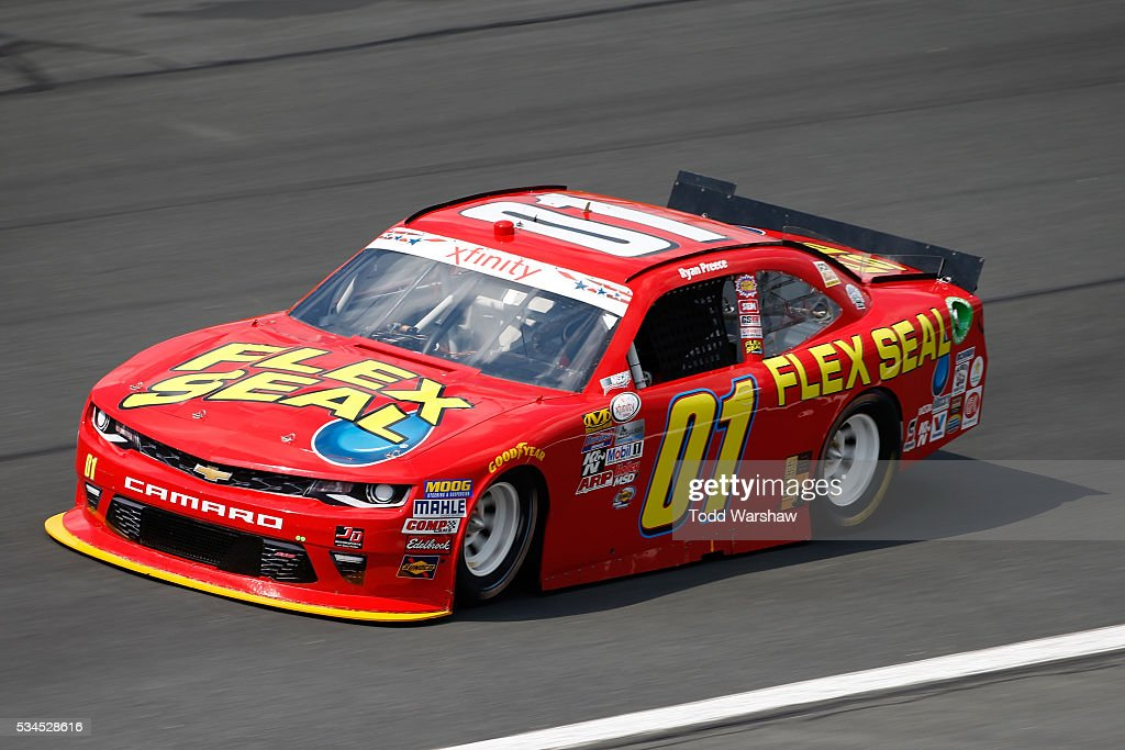 Ryan Preece, driver of the #01 Flex Seal Chevrolet, drives during practice for the NASCAR XFINITY Series Hisense 4K TV 300 at Charlotte Motor Speedway on May 27, 2016 in Charlotte, North Carolina.