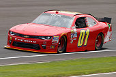 Ryan Preece driver of the teamjdmotorsportscom Chevrolet practices for the NASCAR XFINITY Series Lilly Diabetes 250 at Indianapolis Motor Speedway on...