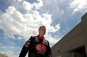 Ryan Preece driver of the teamjdmotorsportscom Chevrolet walks through the garage area during practice for the NASCAR XFINITY Series Lilly Diabetes...