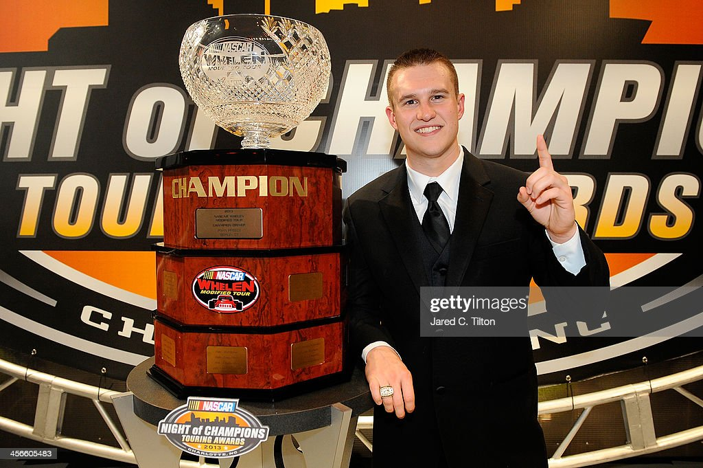 Ryan Preece, NASCAR Whelen Modified Series Champion, poses for a photo opporunity after the NASCAR Night of Champions at Charlotte Convention Center on December 14, 2013 in Charlotte, North Carolina.