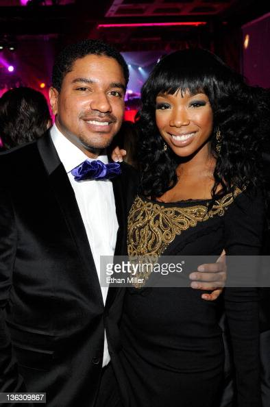Ryan Press and recording artist Brandy Norwood attend Stevie Wonder's New Years Eve performance at The Chelsea at The Cosmopolitan of Las Vegas on...