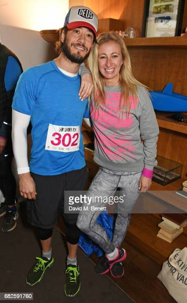 Ryan Prince and Jenny Halpern Prince attend the Lady Garden brunch following the 5K 10K Fun Run in aid of Silent No More Gynaecological Cancer Fund...