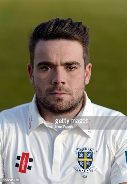 Ryan Pringle of Durham poses for a portrait during the Durham CCC Photocall at The Riverside on March 31 2015 in ChesterleStreet England
