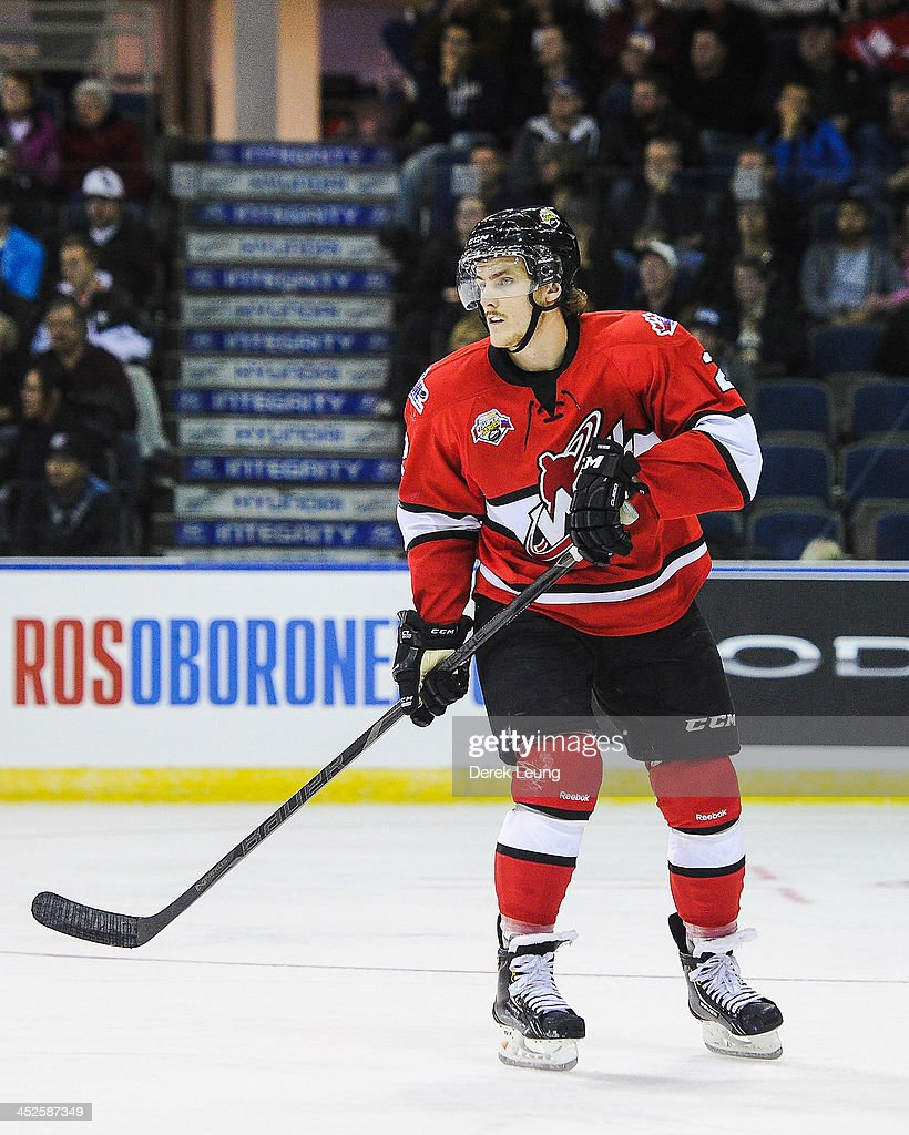 <a gi-track='captionPersonalityLinkClicked' href=/galleries/search?phrase=Ryan+Pulock&family=editorial&specificpeople=9885932 ng-click='$event.stopPropagation()'>Ryan Pulock</a> #2 of the WHL All-Stars skates against team Russia during Game Six of the WHL-Russia Subway Super Series on November, 28, 2013 at ENMAX Centre in Lethbridge, Alberta, Canada.