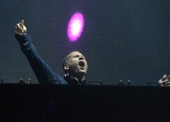Ryan Raddon aka Kaskade performs during Ultra Music Festival at Bayfront Park Amphitheater on March 28 2014 in Miami Florida