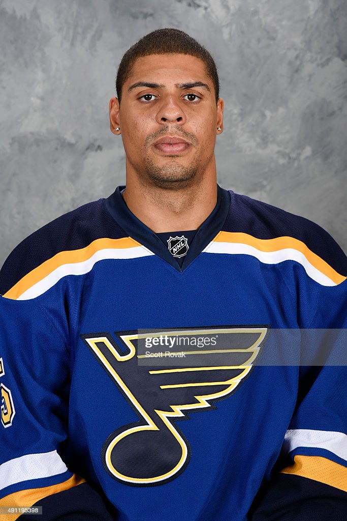 Ryan Reaves of the St Louis Blues poses for his official headshot for the 20152016 season on September 17 2015 in St Louis Missouri