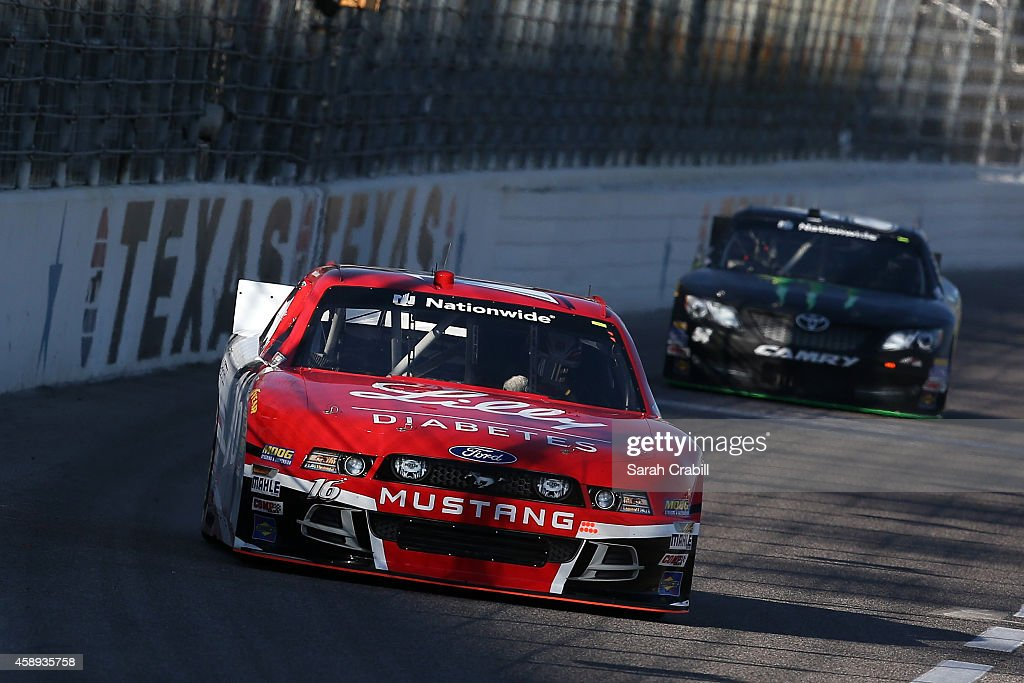 Ryan Reed driver of the ADA Drive to Stop Diabetes/Lilly Diabetes Ford during practice for the NASCAR Nationwide Series O'Reilly Auto Parts Challenge...