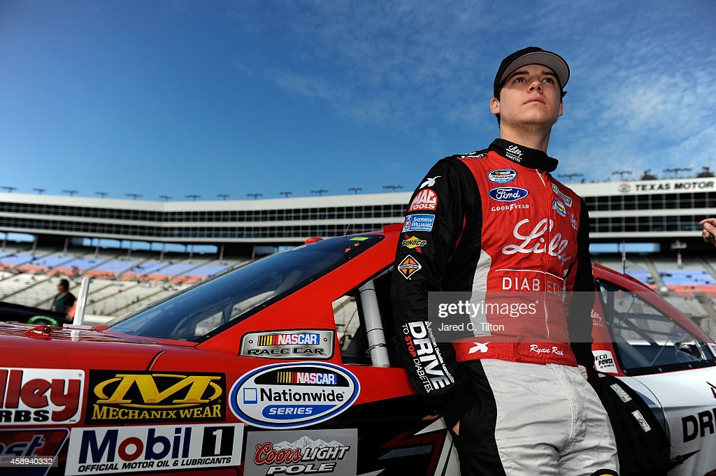 Ryan Reed driver of the ADA Drive to Stop Diabetes/Lilly Diabetes Ford during Pinnacle Propane Qualifying for the NASCAR Nationwide Series O'Reilly...
