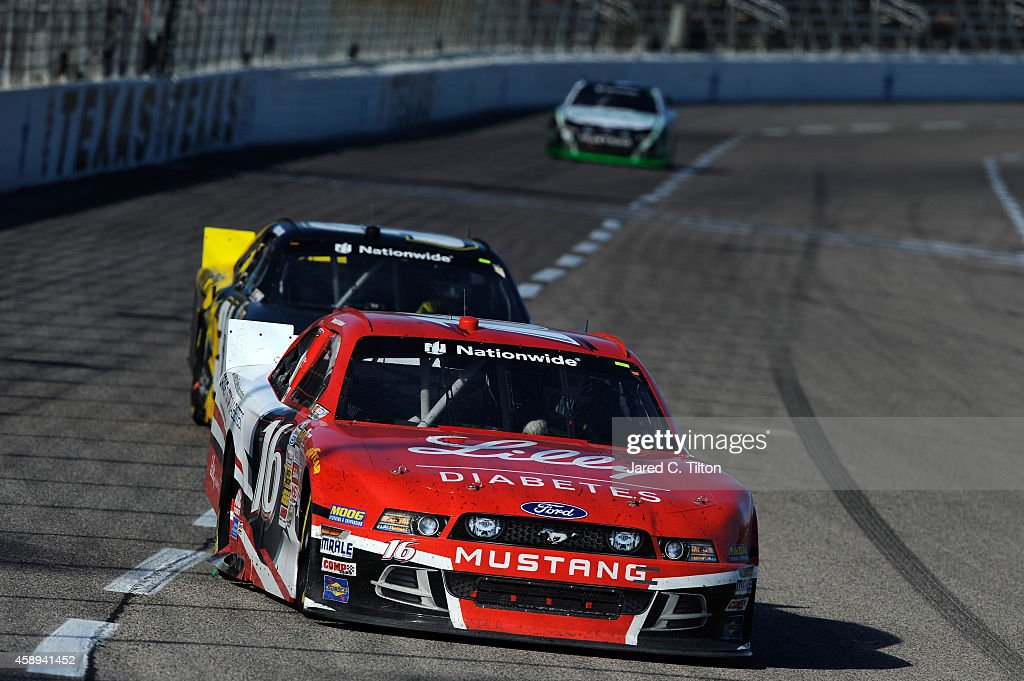 Ryan Reed driver of the ADA Drive to Stop Diabetes/Lilly Diabetes Ford during the NASCAR Nationwide Series O'Reilly Auto Parts Challenge at Texas...