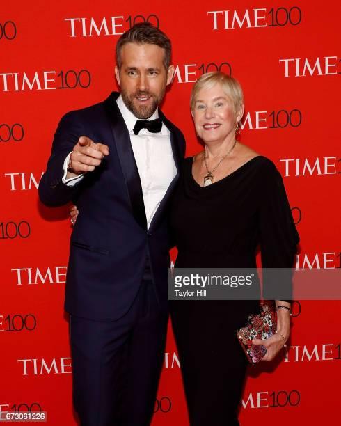 Ryan Reynolds and Tammy Reynolds attend the 2017 Time 100 Gala at Jazz at Lincoln Center on April 25 2017 in New York City