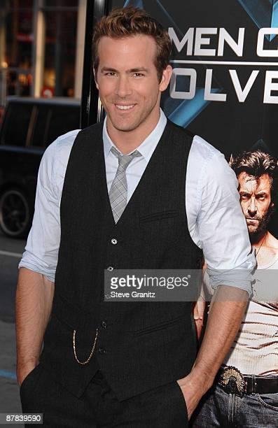 Ryan Reynolds at the Grauman's Mann Chinese Theater on April 28 2009 in Hollywood California