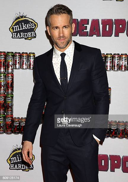 Ryan Reynolds attends 'Deadpool' Fan Event at AMC Empire Theatre on February 8 2016 in New York City