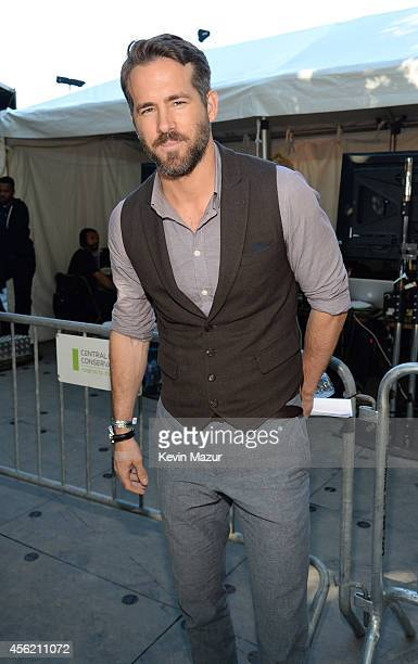 Ryan Reynolds attends the 2014 Global Citizen Festival to end extreme poverty by 2030 at Central Park on September 27 2014 in New York City