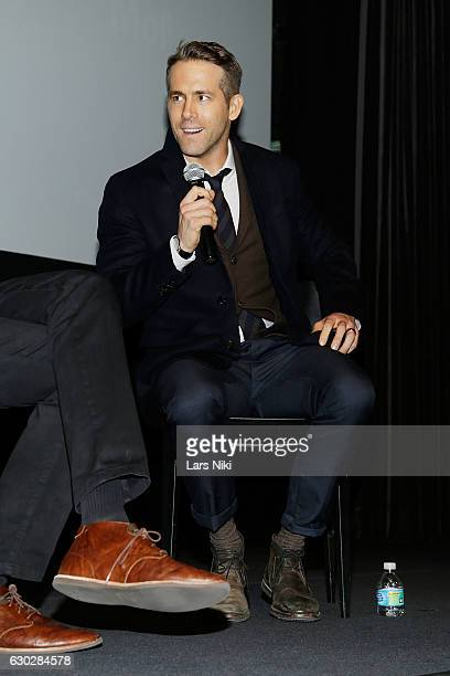 Ryan Reynolds attends the Q and A during The Contenders Screening of DEADPOOL With Ryan Reynolds at MOMA on December 19 2016 in New York City