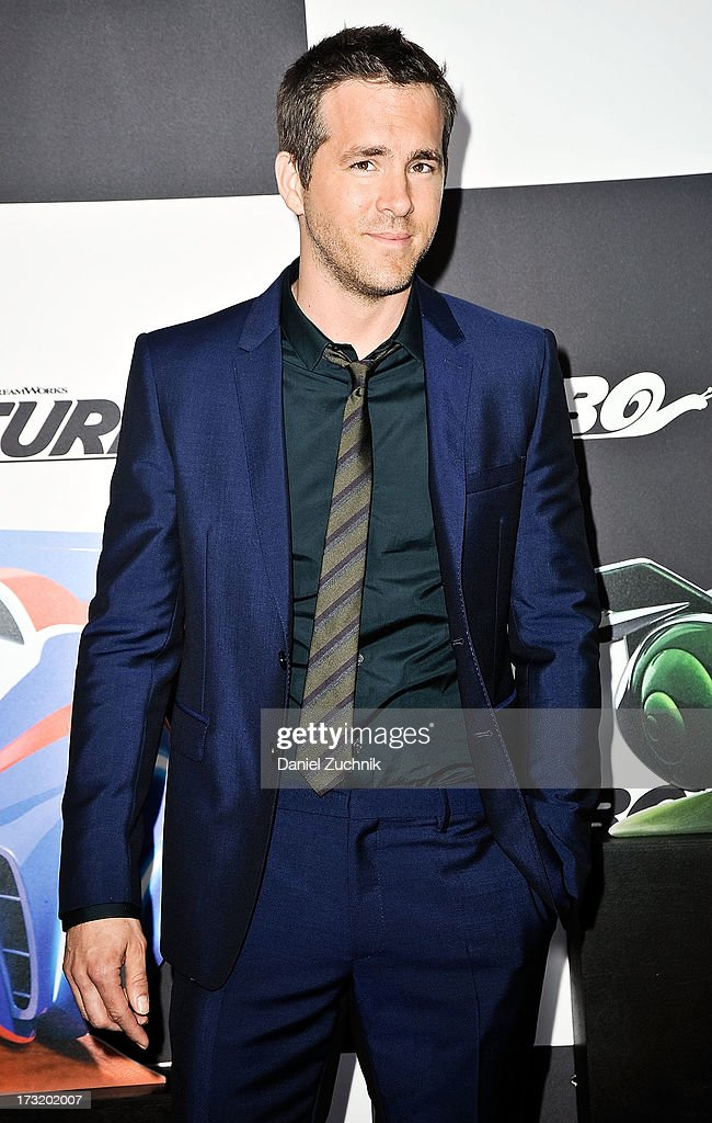 <a gi-track='captionPersonalityLinkClicked' href=/galleries/search?phrase=Ryan+Reynolds&family=editorial&specificpeople=204149 ng-click='$event.stopPropagation()'>Ryan Reynolds</a> attends the 'Turbo' New York Premiere at AMC Loews Lincoln Square on July 9, 2013 in New York City.