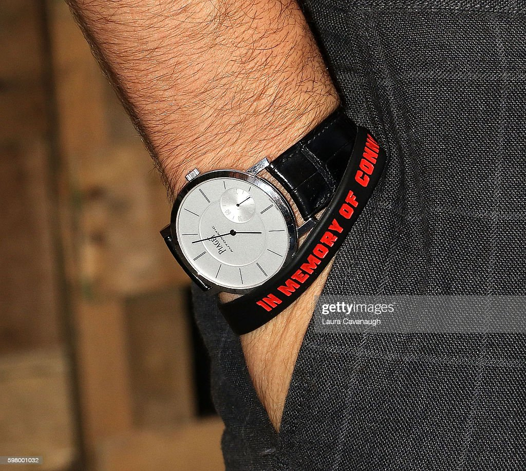 Ryan Reynolds Piaget watch detail attends The One Tree Initiative Celebration at The Highline on August 30 2016 in New York City