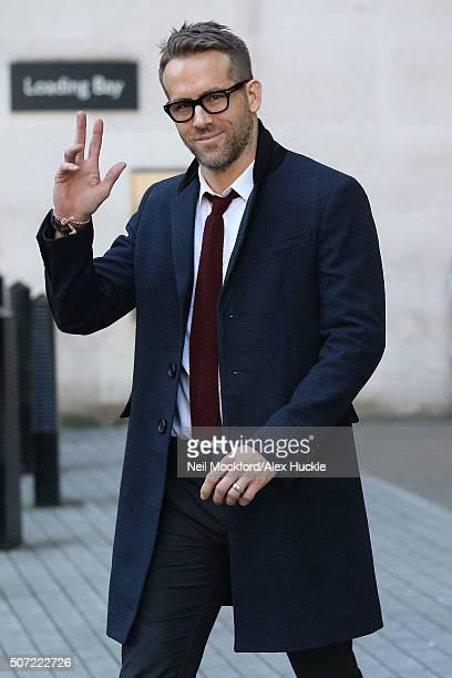 Ryan Reynolds seen at BBC Radio Studios on January 28 2016 in London England