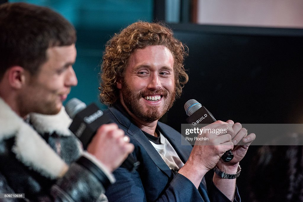 Ryan Reynolds, TJ Miller, Ed Skrein and Morena Baccarin discuss their new film Deadpool at AOL Studios In New York on February 9, 2016 in New York City.
