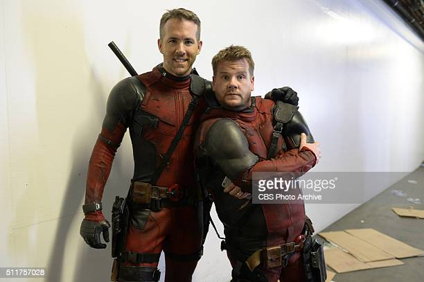 Ryan Reynolds with James Corden on 'The Late Late Show with James Corden' Airing Thursday February 18th on The CBS Television Network