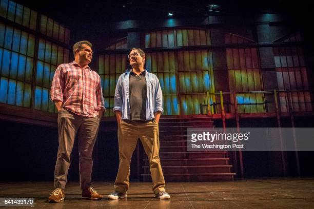 Ryan Rilette left of Round House Theatre and Jason Loewith of Olney Theatre Center are collaborating to produce 'Angels in America' shown in...