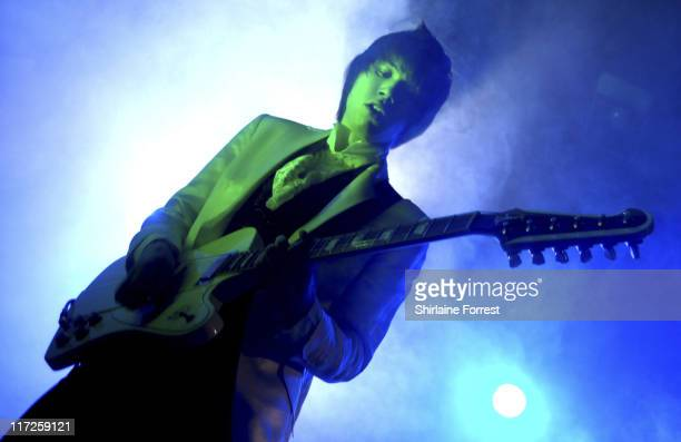 Ryan Ross of Panic At The Disco during Panic At the Disco Concert at Manchester Academy in Manchester Great Britain