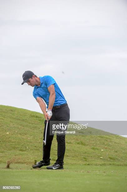 Ryan Ruffels of Australia hits a shot during practice for the PGA TOUR Latinoamerica BMW Jamaica Classic at Cinnamon Hill Golf Course on June 14 2017...