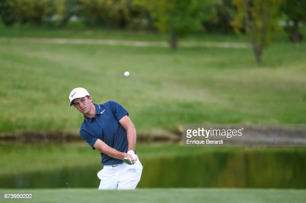 Ryan Ruffels of Australia hits his approach shot on the fourth hole during the third round of the PGA TOUR Latinoamerica Molino Canuelas Championship...