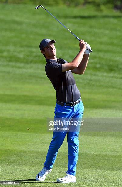 Ryan Ruffels of Australia plays a shot from the fairway on the third hole during the first round of the ATT Pebble Beach National ProAm at the Pebble...