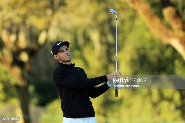 Ryan Ruffels of Australia plays a shot on the ninth hole during the first round of the Arnold Palmer Invitational Presented By MasterCard on March 16...