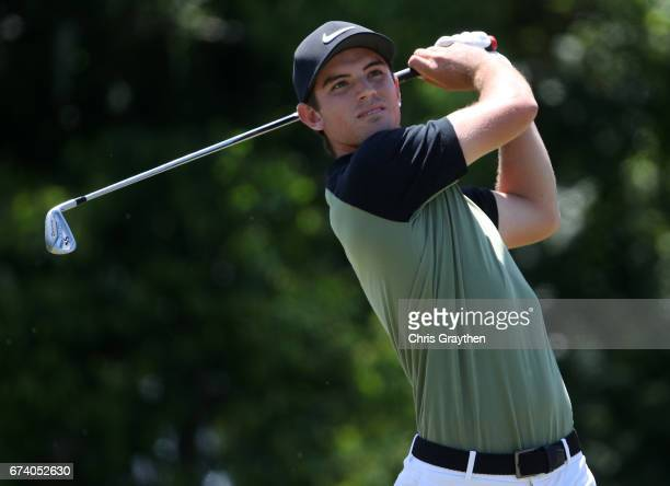 Ryan Ruffels of Australia plays his shot from the eighth tee during the first round of the Zurich Classic at TPC Louisiana on April 27 2017 in...
