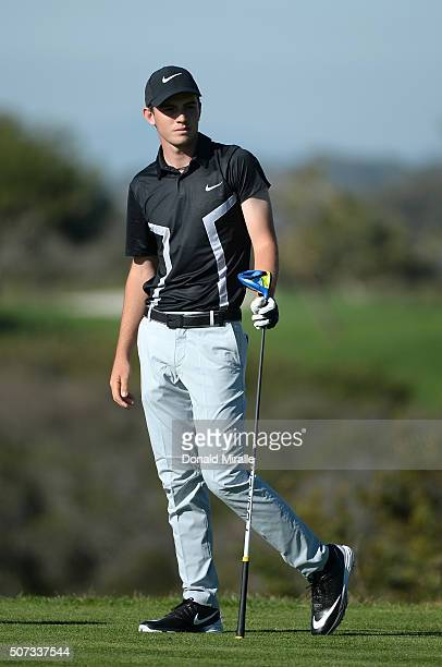 Ryan Ruffels of Australia prepares to tee off on the 9th hole during Round 1 of the Farmers Insurance Open at Torrey Pines North on January 28 2016...
