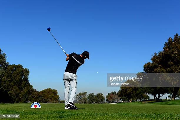 Ryan Ruffels of Australia tees off on 15th hole the during Round 1 of the Farmers Insurance Open at Torrey Pines North on January 28 2016 in San...
