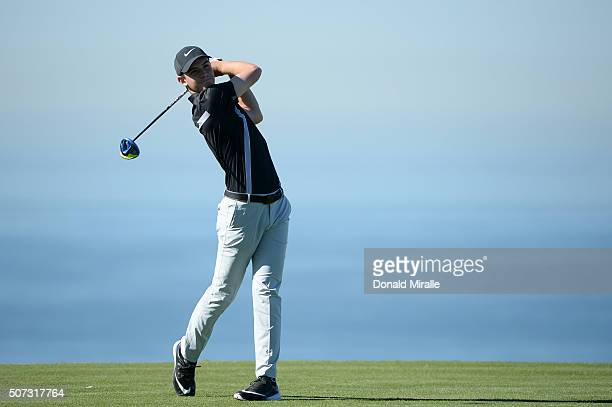 Ryan Ruffels of Australia tees off on the 13th hole during Round 1 of the Farmers Insurance Open at Torrey Pines North on January 28 2016 in San...