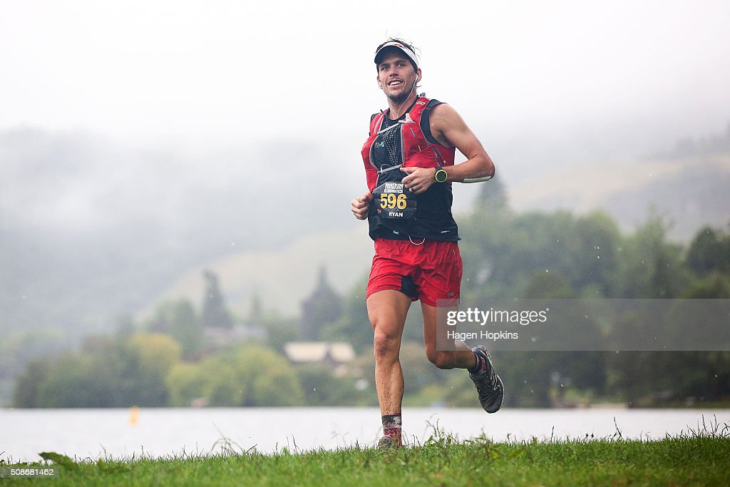 Ryan Sandes of South Africa in action during the Tarawera Ultramarathon on February 6, 2016 in Rotorua, New Zealand.