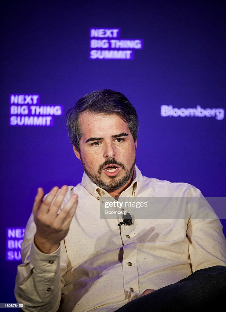Ryan Schreiber, founder and chief executive officer of Pitchfork Media, speaks at the Bloomberg Next Big Thing Summit in New York, U.S., on Monday, Sept. 16, 2013. The conference convenes the most influential investors and industry leaders in innovation and science to explore the great frontiers of how technology is changing the way we live, work, and interact. Photographer: Michael Nagle/Bloomberg via Getty Images