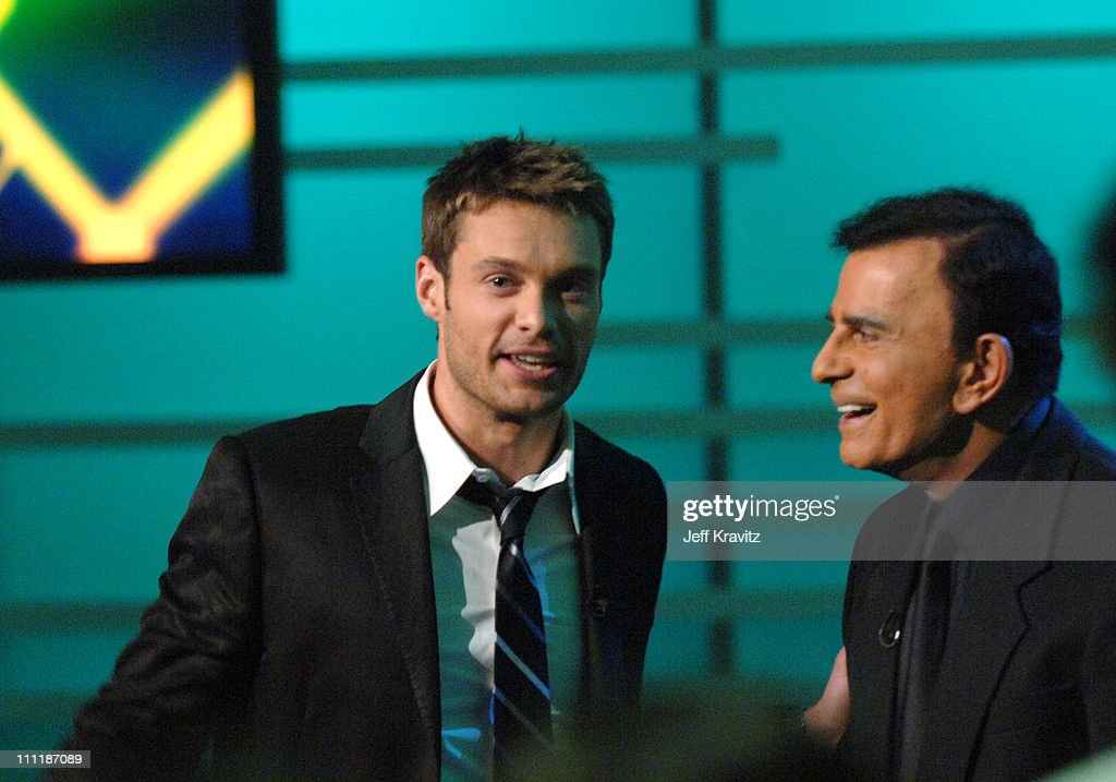 <a gi-track='captionPersonalityLinkClicked' href=/galleries/search?phrase=Ryan+Seacrest&family=editorial&specificpeople=201694 ng-click='$event.stopPropagation()'>Ryan Seacrest</a> and <a gi-track='captionPersonalityLinkClicked' href=/galleries/search?phrase=Casey+Kasem&family=editorial&specificpeople=1545344 ng-click='$event.stopPropagation()'>Casey Kasem</a> during 'America's Top 40 Live' with <a gi-track='captionPersonalityLinkClicked' href=/galleries/search?phrase=Ryan+Seacrest&family=editorial&specificpeople=201694 ng-click='$event.stopPropagation()'>Ryan Seacrest</a> at CBS Studios Stage 46 in Los Angeles, California, United States.