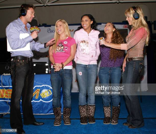 Ryan Seacrest and Ellen K with Kiely Williams Sabrina Bryan and Adrienne Bailon of The Cheetah Girls