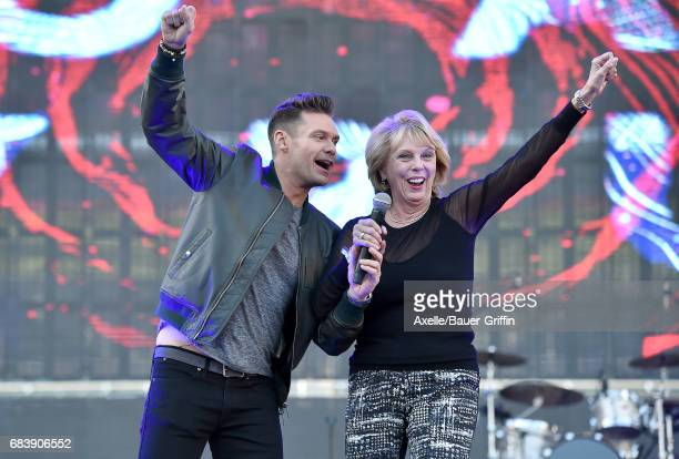 Ryan Seacrest and mom Constance Marie Zullinger at 1027 KIIS FM's 2017 Wango Tango at StubHub Center on May 13 2017 in Carson California