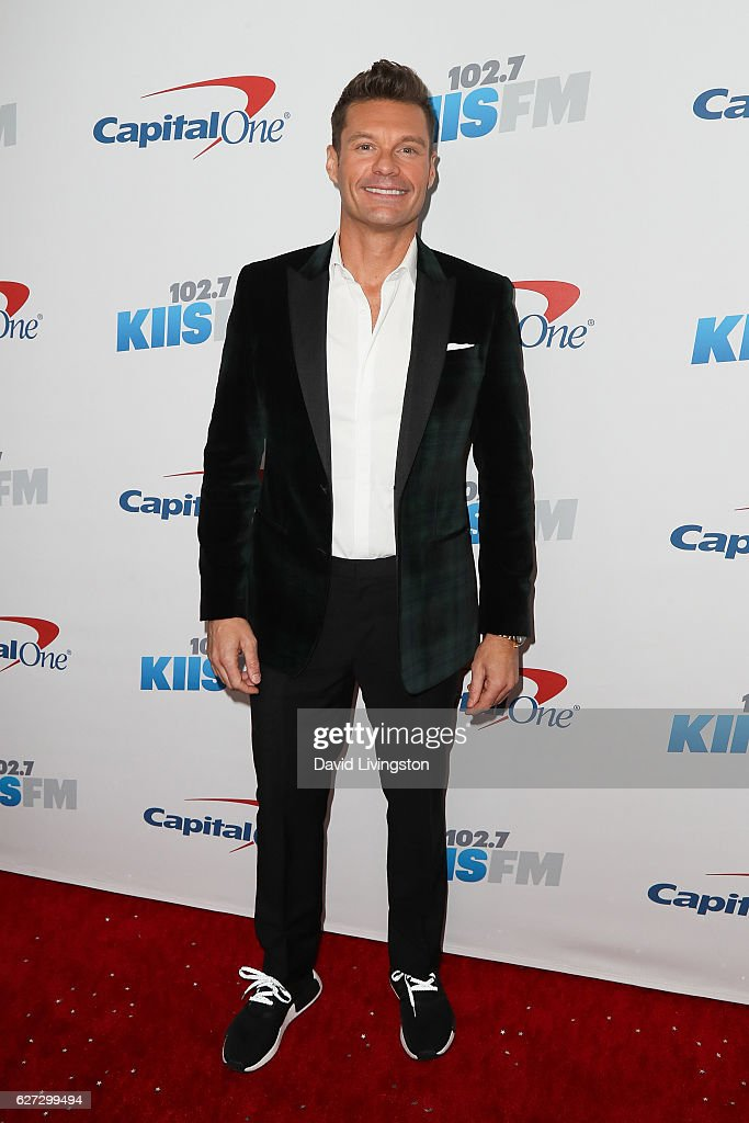 Ryan Seacrest arrives at 102.7 KIIS FM's Jingle Ball 2016 at the Staples Center on December 2, 2016 in Los Angeles, California.