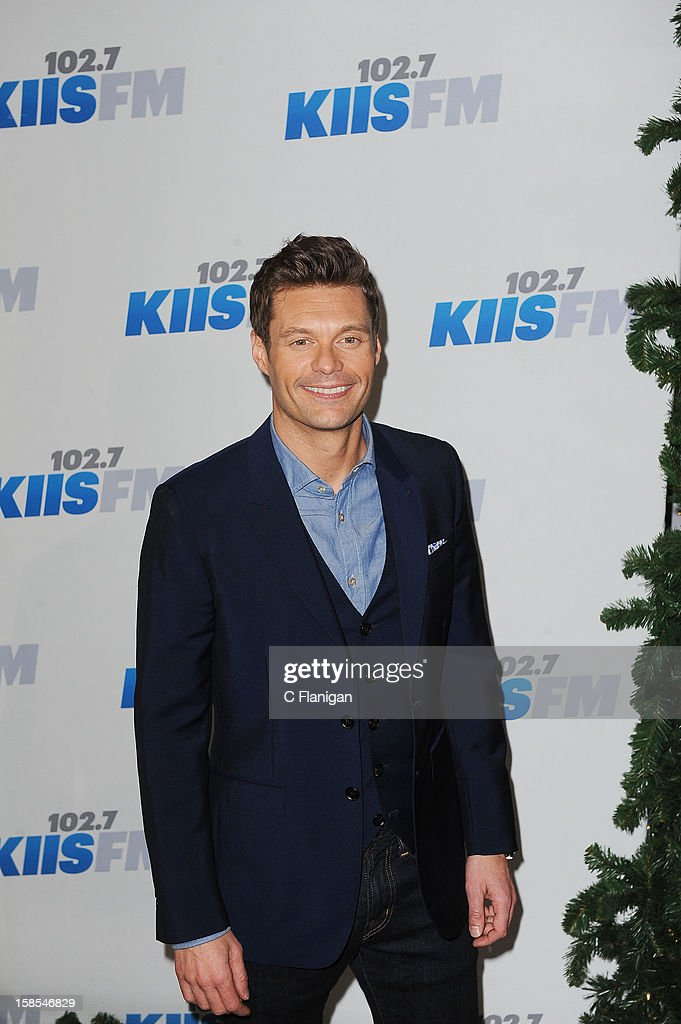 Ryan Seacrest arrives at the 2012 KIIS FM Jingle Ball at Nokia Theatre LA Live on December 1, 2012 in Los Angeles, California.