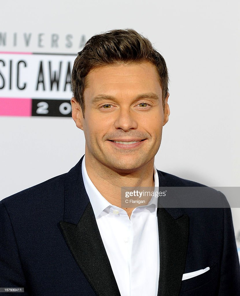 Ryan Seacrest arrives at The 40th American Music Awards at Nokia Theatre L.A. Live on November 18, 2012 in Los Angeles, California.