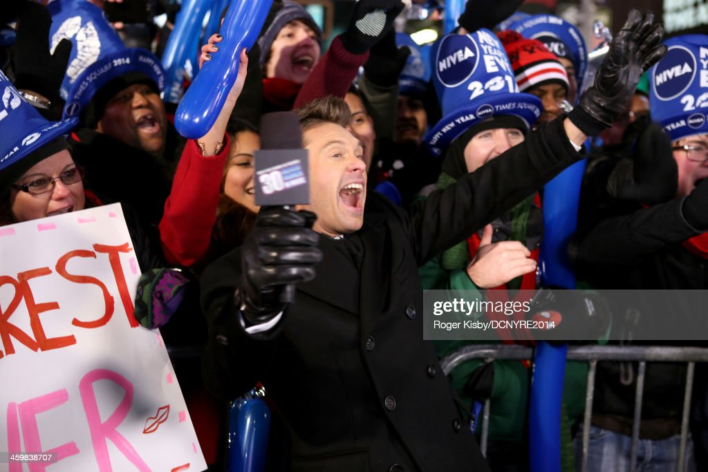 <a gi-track='captionPersonalityLinkClicked' href=/galleries/search?phrase=Ryan+Seacrest&family=editorial&specificpeople=201694 ng-click='$event.stopPropagation()'>Ryan Seacrest</a> attends Dick Clark's New Year's Rockin' Eve with <a gi-track='captionPersonalityLinkClicked' href=/galleries/search?phrase=Ryan+Seacrest&family=editorial&specificpeople=201694 ng-click='$event.stopPropagation()'>Ryan Seacrest</a> 2014 on December 31, 2013 in New York, New York.
