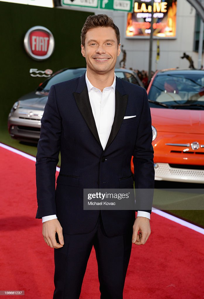 <a gi-track='captionPersonalityLinkClicked' href=/galleries/search?phrase=Ryan+Seacrest&family=editorial&specificpeople=201694 ng-click='$event.stopPropagation()'>Ryan Seacrest</a> attends Fiat's Into The Green during the 40th American Music Awards held at Nokia Theatre L.A. Live on November 18, 2012 in Los Angeles, California.
