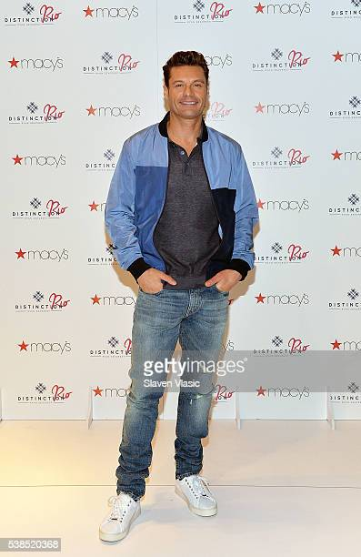 Ryan Seacrest attends his Distinction Rio Collection launch at Macy's Herald Square on June 6 2016 in New York City