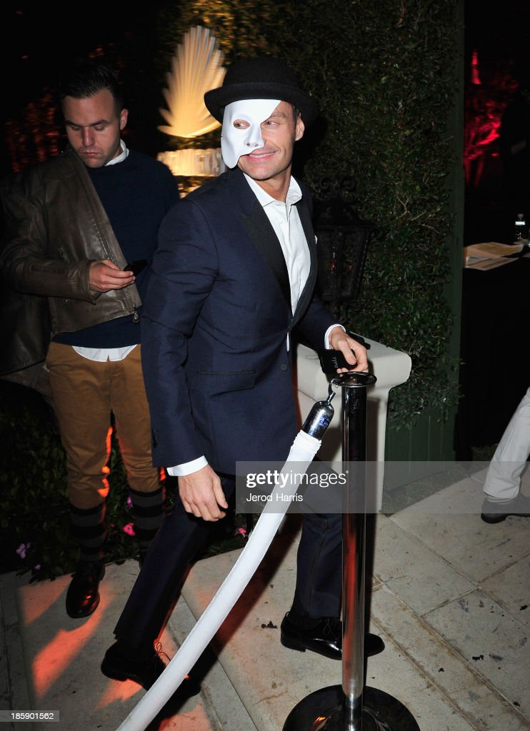 <a gi-track='captionPersonalityLinkClicked' href=/galleries/search?phrase=Ryan+Seacrest&family=editorial&specificpeople=201694 ng-click='$event.stopPropagation()'>Ryan Seacrest</a> attends the Casamigos Halloween Party at the home of Mike Meldman on October 25, 2013 in Beverly Hills, California.