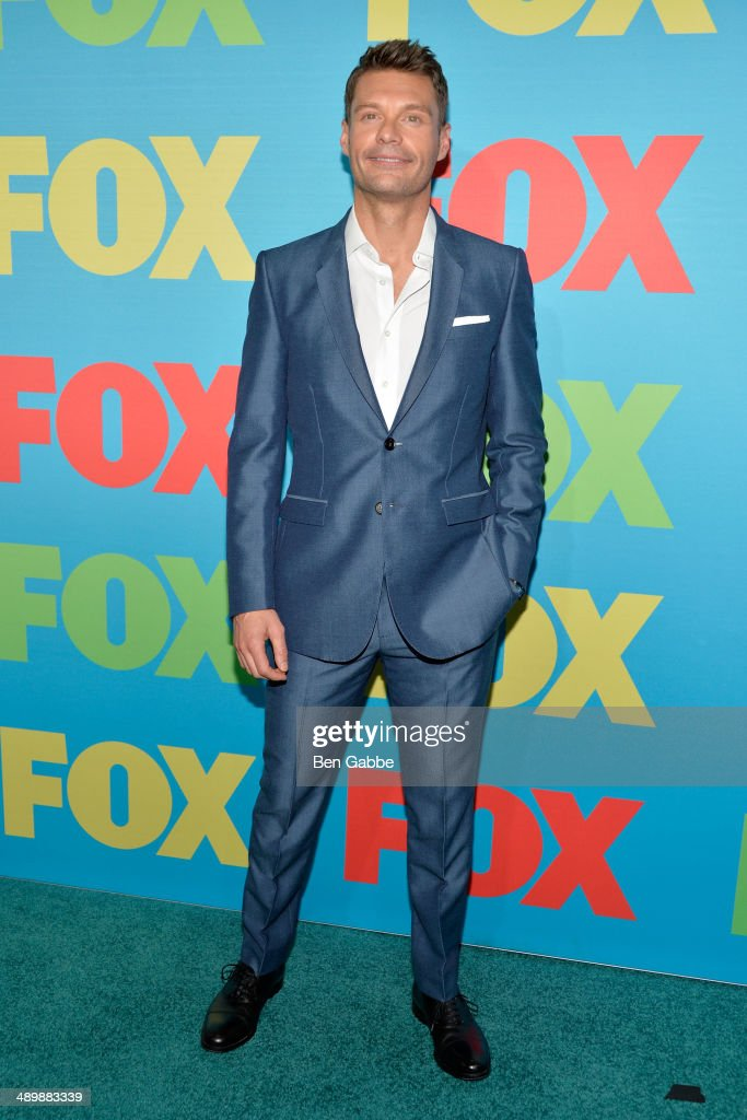 <a gi-track='captionPersonalityLinkClicked' href=/galleries/search?phrase=Ryan+Seacrest&family=editorial&specificpeople=201694 ng-click='$event.stopPropagation()'>Ryan Seacrest</a> attends the FOX 2014 Programming Presentation at the FOX Fanfront on May 12, 2014 in New York City.
