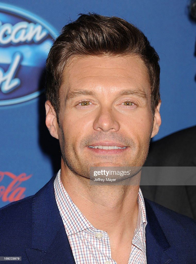 Ryan Seacrest attends the FOX's 'American Idol' Season 12 Premiere at Royce Hall on the UCLA Campus on January 9, 2013 in Westwood, California.