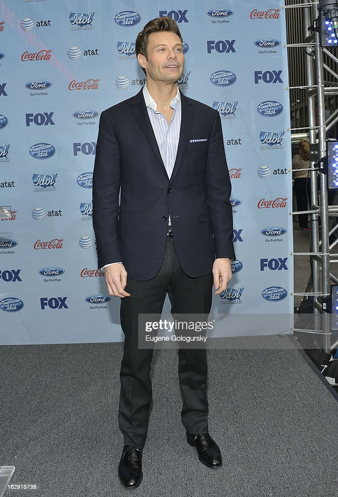 Ryan Seacrest attends the Idol Across America Kick Off in the News Corp Building Plaza on March 1, 2013 in New York City.