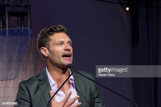 Ryan Seacrest attends the Sixth Annual Hamptons Paddle Party For Pink To Benefit Breast Cancer Research Foundation on August 5 2017 in Bridgehampton...